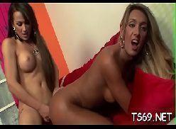 Travestis fazendo sexo gostoso uma comendo o cu da outra